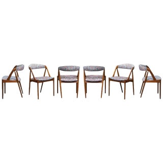 Kai Kristiansen in Teak Dining Chairs Model 31 for Schou Andersen For Sale