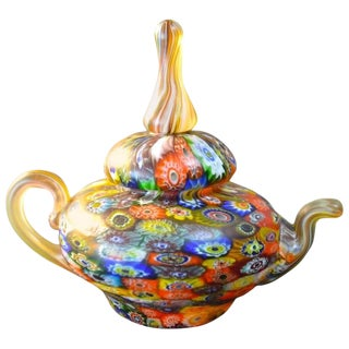 Fratelli Toso Paperweight in the Form of a Teapot For Sale