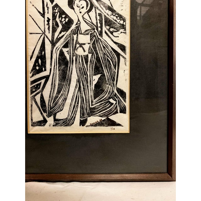 1960s Mid Century Geisha Print Signed, Donna For Sale - Image 5 of 9