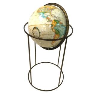 Vintage Paul McCobb Globe on Brass Stand
