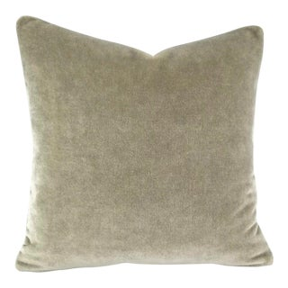 Mario Sirtori Alpaca Mohair Gray Pillow Cover For Sale