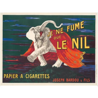"1912 ""Je Ne Fume Que Le Nil"" Original Nil Cigarette Poster For Sale"