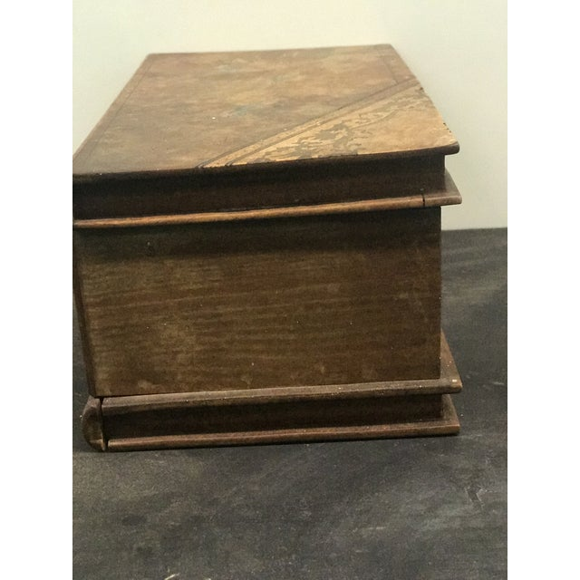 Wooden Faux Book Jewel Box For Sale - Image 5 of 9
