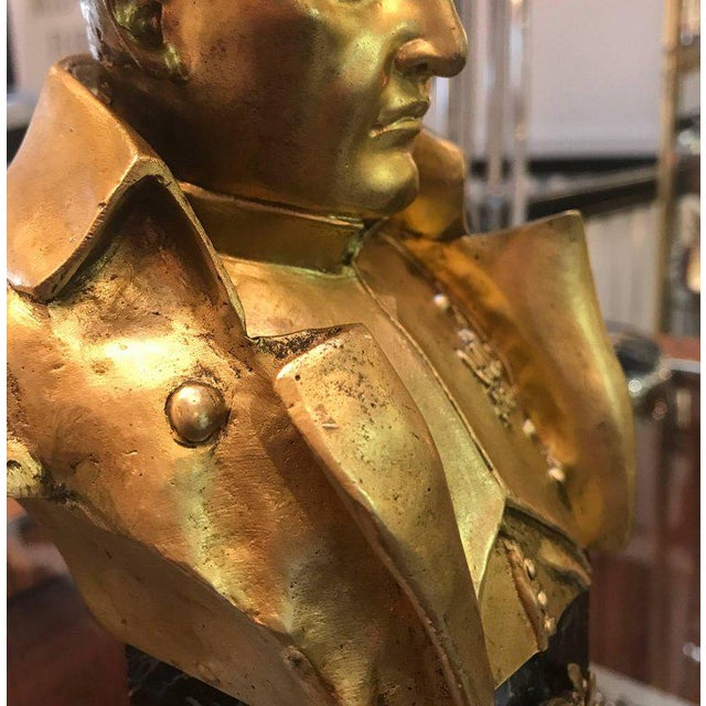 French French Empire Bronze Napoleon Bust For Sale - Image 3 of 10