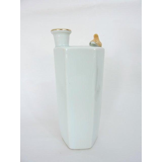 1950s Japanese Gold Dragon 'Whistling' Porcelain Sake Flask/Decanter For Sale - Image 5 of 9