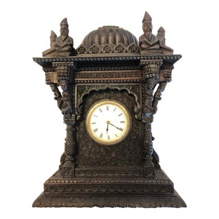 Early 20th Century Vintage Carved Clock For Sale