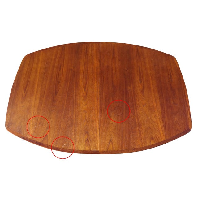 1970's Danish Modern Walnut Extendable Dining Table For Sale - Image 12 of 13