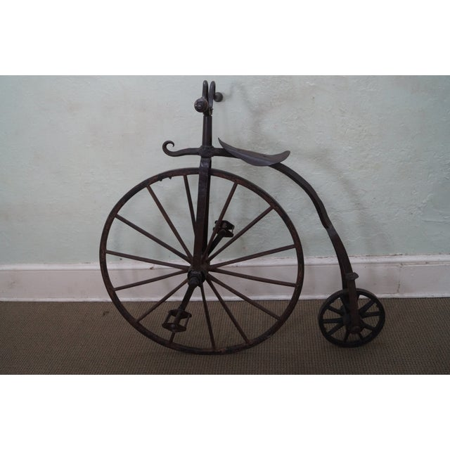 Antique Iron High Wheel Bicycle For Sale - Image 10 of 10