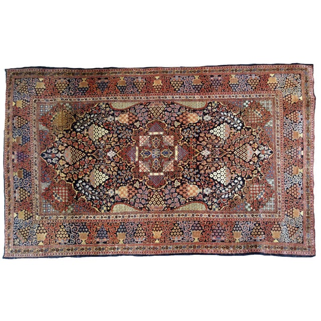 1880s, Handmade Antique Persian Dabir Kashan Rug 4.1' X 6.2' For Sale - Image 11 of 12