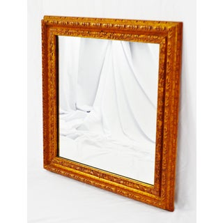 Vintage Wood Framed Wall Mirror 30 x 30 Preview