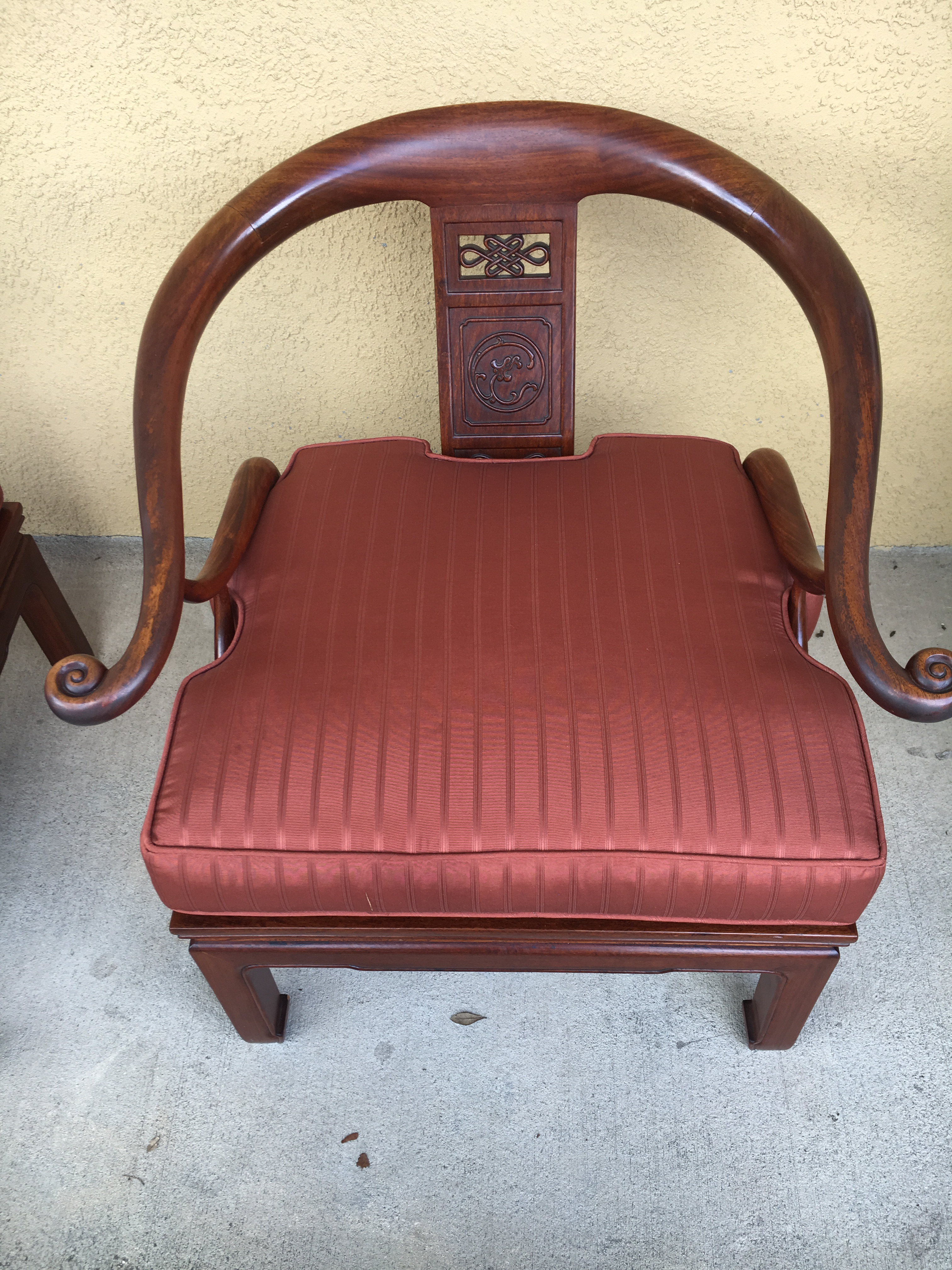 1970s Asian Inspired Ming Rosewood Side Chairs   A Pair For Sale   Image 4