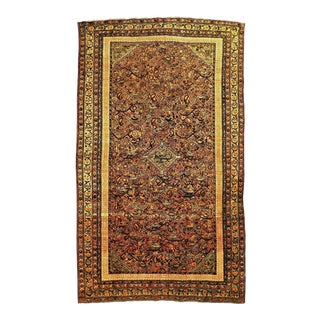 Antique Persian Malayer Farahan Rug- 3′10″ × 6′6″ For Sale
