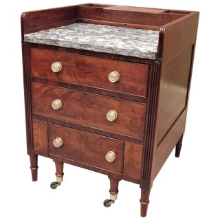 American Classical Commode and Wash Stand, Baltimore, circa 1820 For Sale
