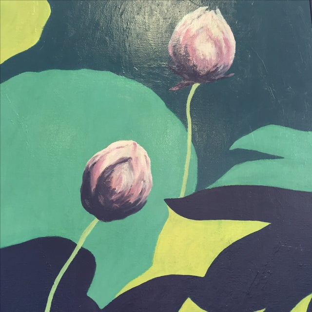 """""""Lotus Buds"""" by Lillian M. Wada - Image 3 of 5"""