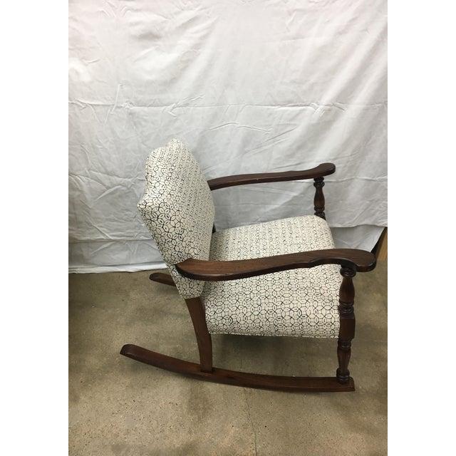 Vintage Granny Rocker Chair For Sale - Image 4 of 5