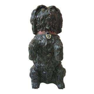 Majolica Terra-Cotta Dog Tobacco Jar For Sale