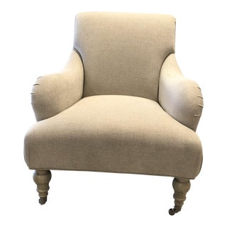 English Traditional Weston Beige Arm Chair