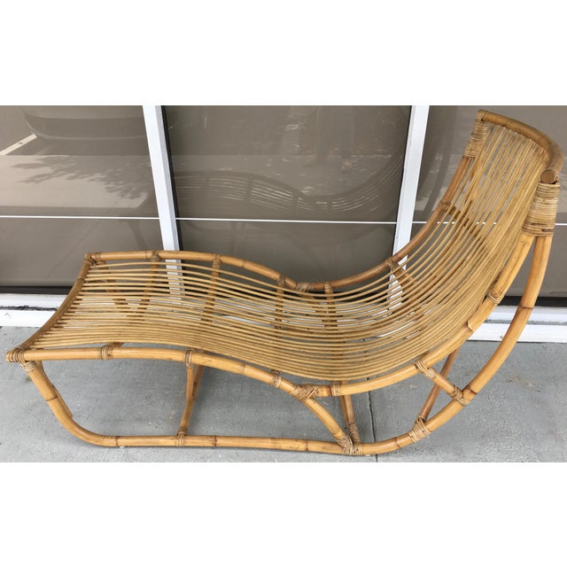 Franco Albini Franco Albini Bamboo Chaise Longue For Sale - Image 4 of 7