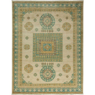 "Khotan, Hand Knotted Area Rug - 8' 10"" x 11' 6"" For Sale"