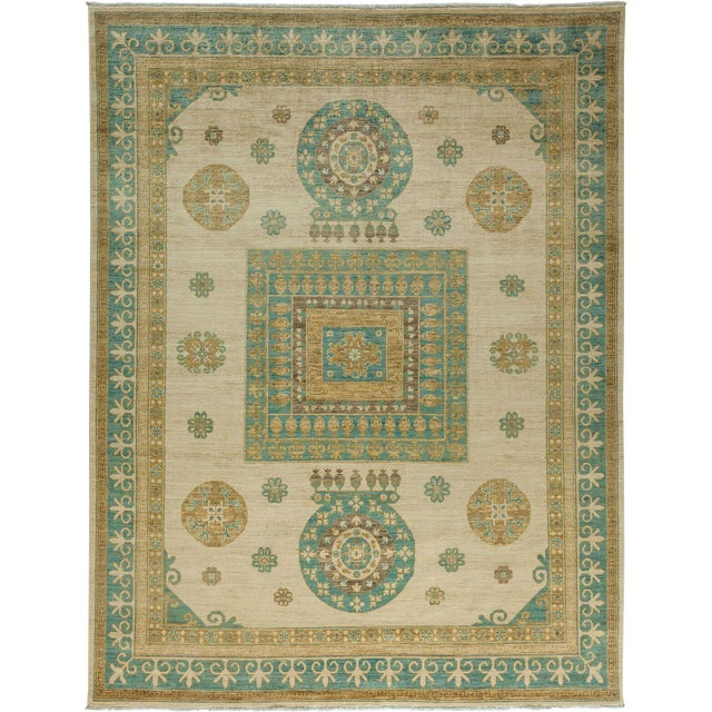 """Khotan, Hand Knotted Area Rug - 8' 10"""" x 11' 6"""" For Sale"""