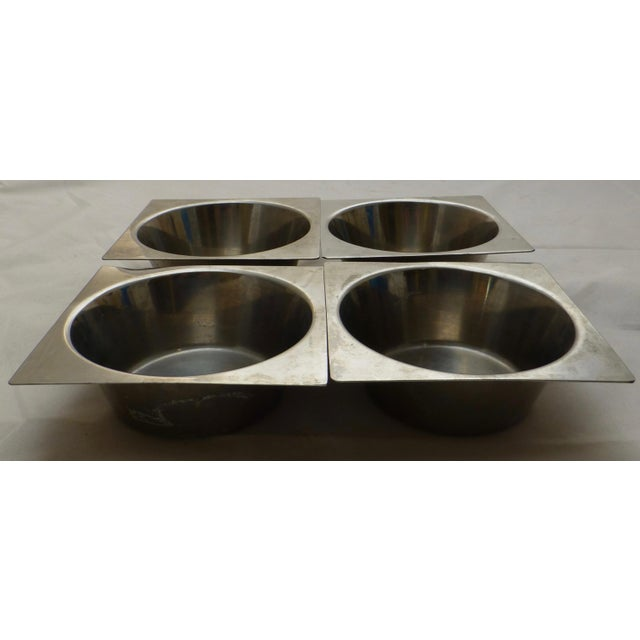 Silver Danish Modern Stainless Steel Bowls - Set of 4 For Sale - Image 8 of 11