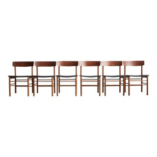 1960s Mid-Century Modern Borge Mogensen Dining Chairs - Set of 6 For Sale