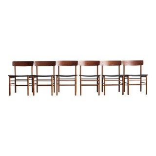 1960s Mid-Century Modern Borge Mogensen Dining Chairs - Set of 6