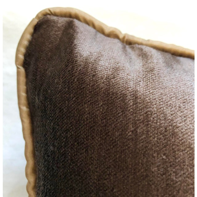 19th Century Dark Grey Velvet Pillow For Sale In West Palm - Image 6 of 11