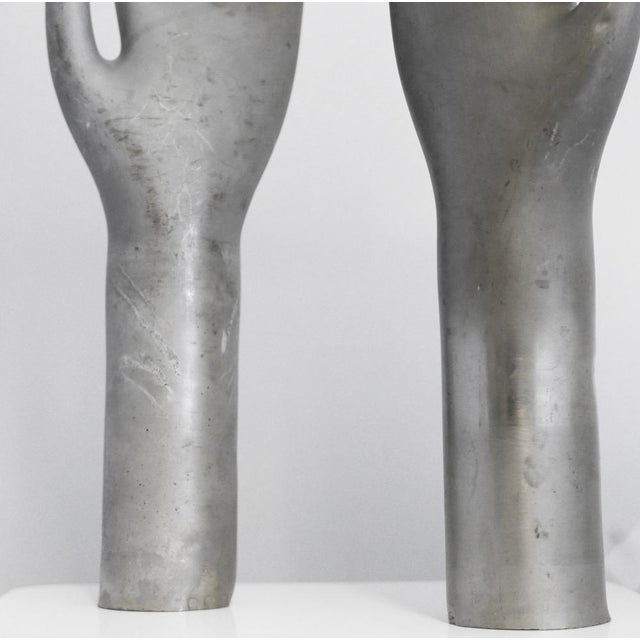 Vintage Industrial Metal Glove Mold - Pair For Sale - Image 4 of 5