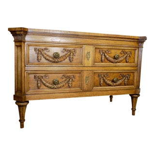 Karges Louis XVI Style Carved Walnut Two Drawer Dresser