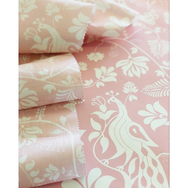 Contemporary House of Harris Windwood Wallpaper, 30 Yards, Blush For Sale - Image 3 of 4