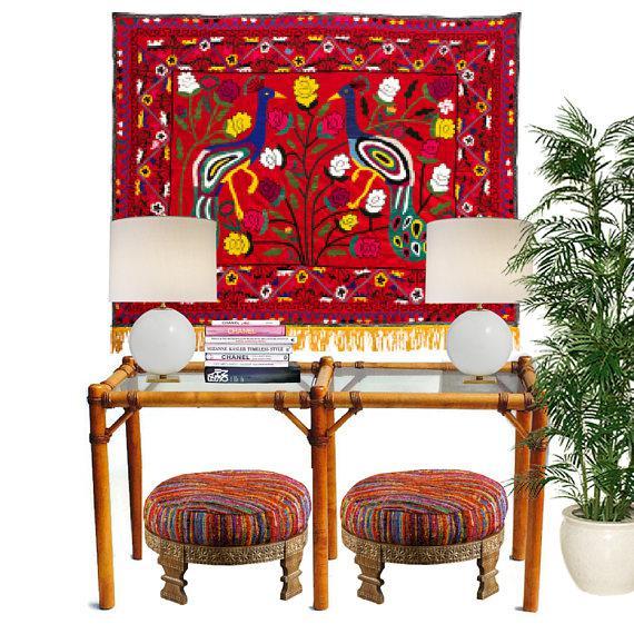 "Vintage Safari Campaign Sofa Table Console Table Smokey Glass - 50"" For Sale - Image 11 of 11"