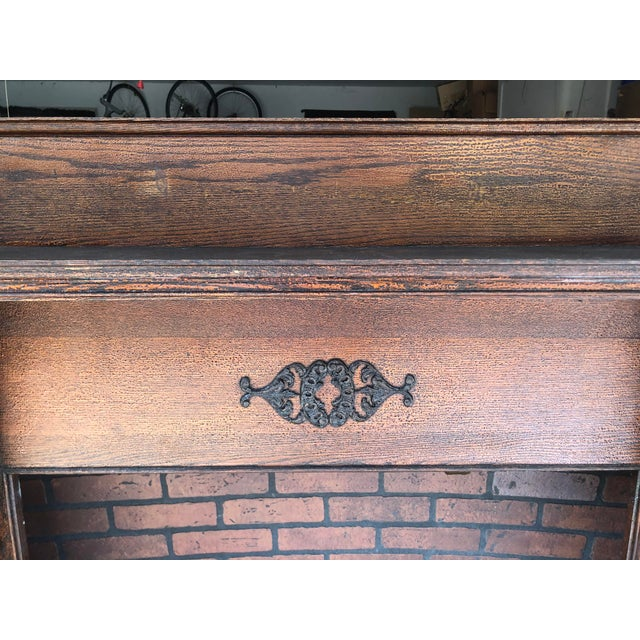 Victorian Early 20th Century Fireplace Surround Mantel For Sale - Image 3 of 13