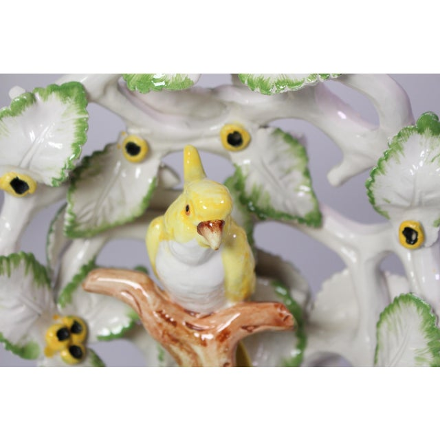 "Three dimensional hand-made and painted yellow and white cockatoo enshrined within an incredibly detailed ""forest"" of..."