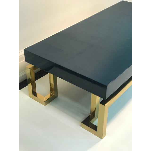 Exceptional Italian Coffee Table with Greek Key Design For Sale - Image 9 of 10