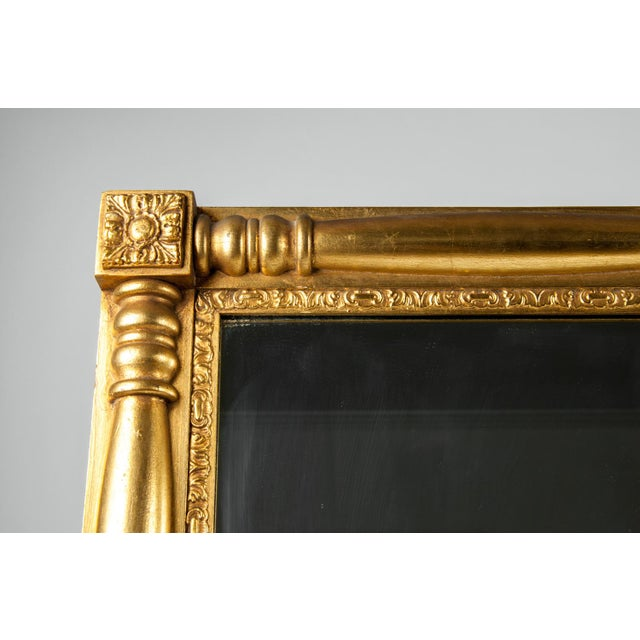 Gilded Wood Framed Mantel or Fireplace Hanging Wall Mirror For Sale - Image 4 of 10