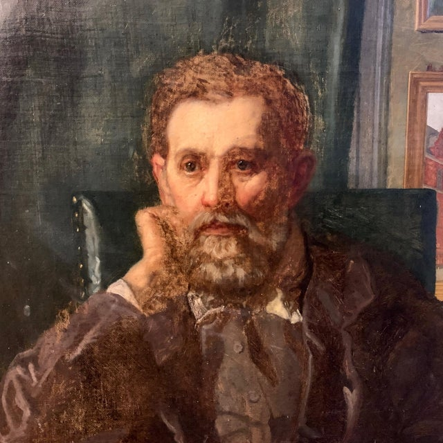 Holger Roed (b. Copenhagen 1846, d. Ringsted 1874) painted this portrait of his father - the Danish painter Jørgen Roed...