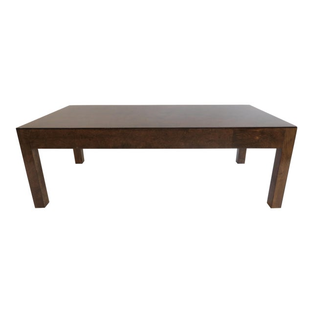 Vintage Burlwood Coffee Table - Image 1 of 6