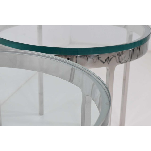Glass Nicos Zographos Side Tables - A Pair For Sale - Image 7 of 9