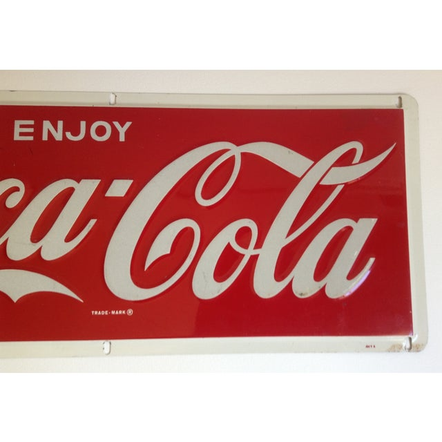 Coca-Cola Metal Tin Enamel Sign - c.1969 - Image 4 of 4