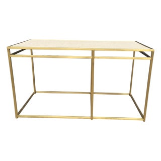 Paul Laszlo Custom Brass and Terrazzo Table