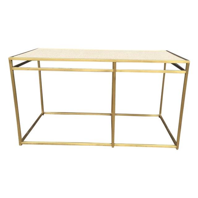 Paul Laszlo Custom Brass and Terrazzo Table For Sale