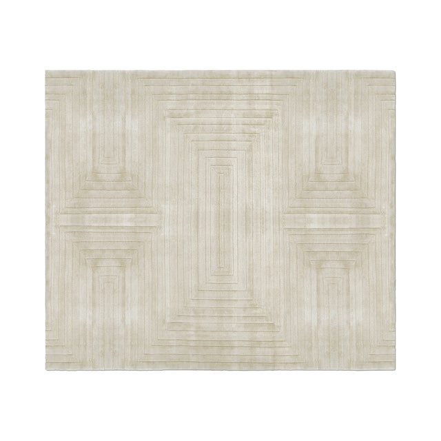Silk White Garden Neutral Rug From Covet Paris For Sale - Image 7 of 7