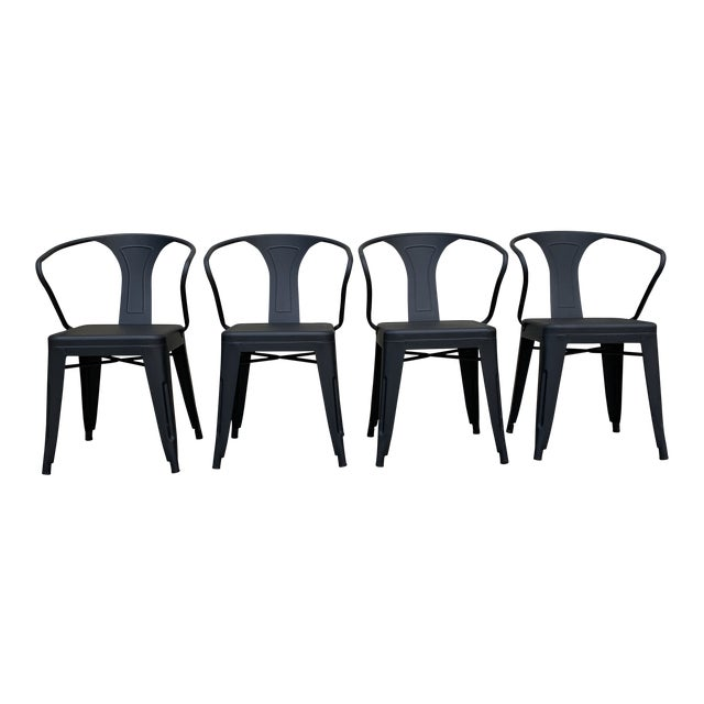 Black Tolix Chairs - Set of 4 For Sale
