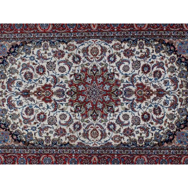 "Leon Banilivi Persian Isphahan Carpet - 5'3"" x 8' For Sale - Image 4 of 5"