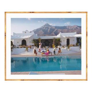 "Slim Aarons Large ""El Venero"" Gold Bamboo Framed Print"