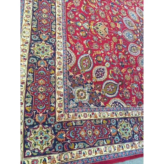 Vintage Persian Mashad Palace Rug - 9′9″ × 12′8″ - Image 7 of 10