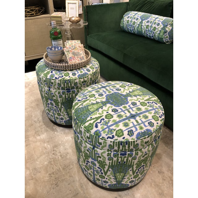 Highland House Grant Swivel Ottomans - Pair For Sale In Chicago - Image 6 of 8