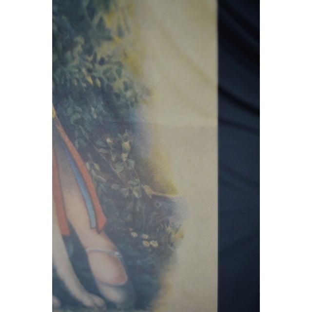 Large Framed & Matted Vintage Asian Calendar Print For Sale - Image 9 of 11