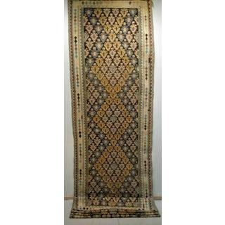 Persian Flat Woven Long Kilim Runner - 4′ × 17′5″ Preview